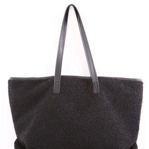 Handbags - Black Fuzzy Teddy Bear Tote